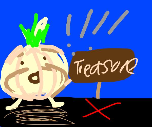 Garlic finds the treasure