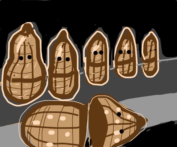 Peanut nesting doll