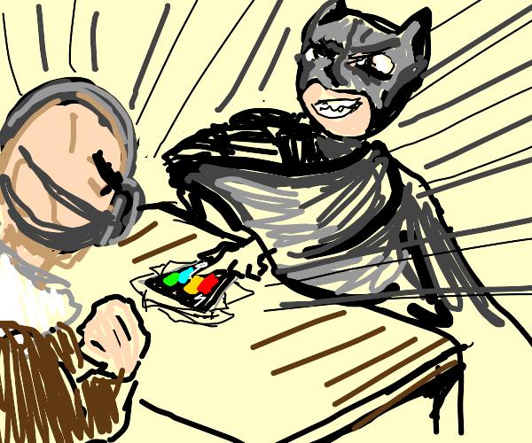 Batman and Bane Playing Card Game