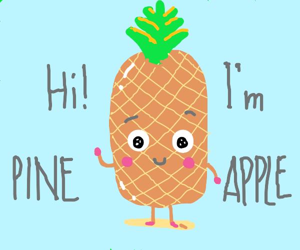 Cute happy pineapple :)