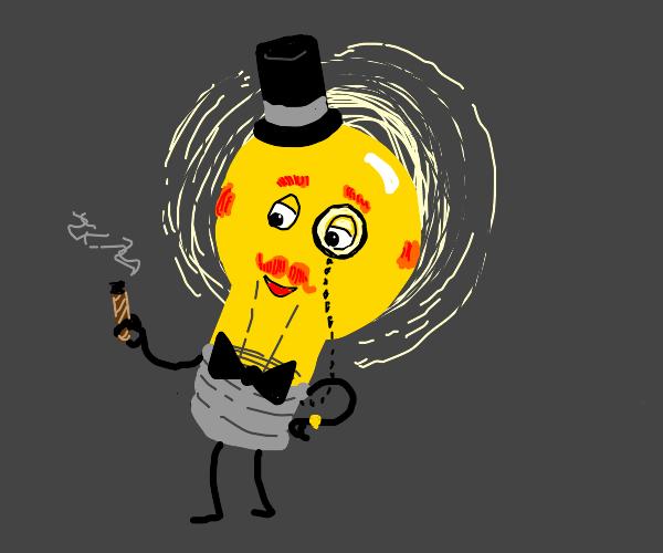 Fancy gentlemen light bulb