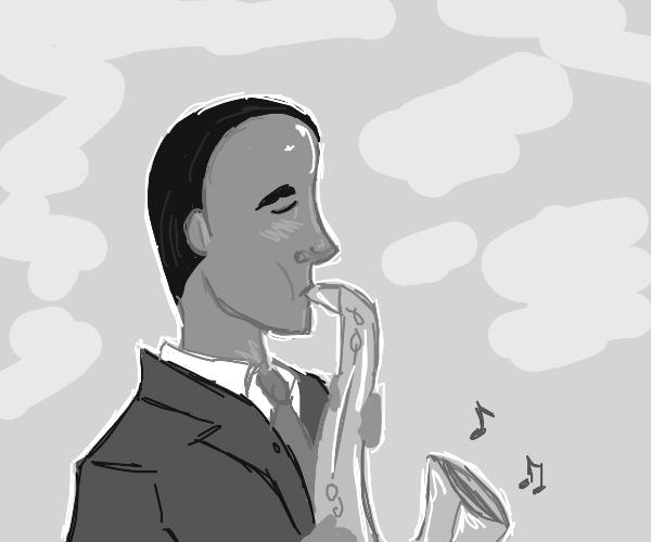 jazzy man has a big forehead