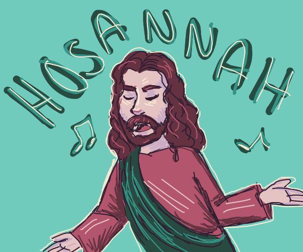 Jesus Sings Gospel In a Red Robe