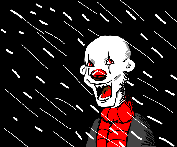 clown in a blizzard