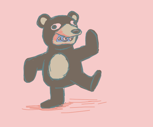 Creature inside mascot costume