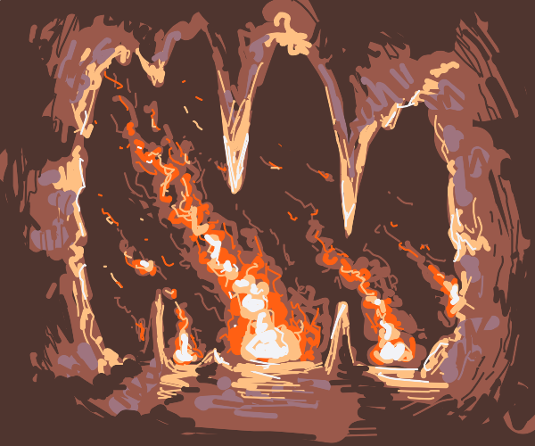 Cave fire(like forest fire but cave)