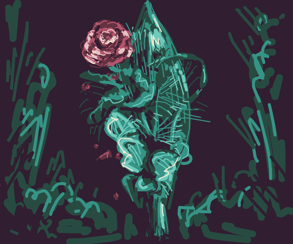 a bouquet with one rose