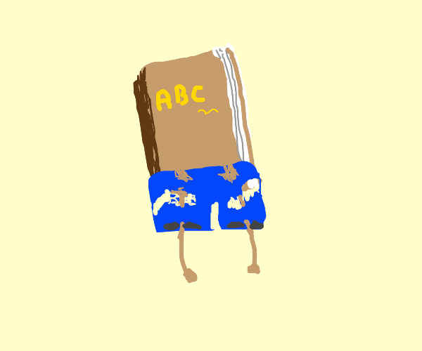 book with ripped shorts