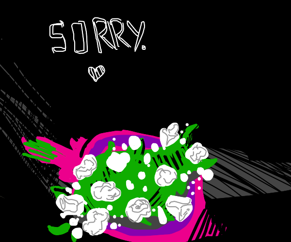 Trying to apologize...