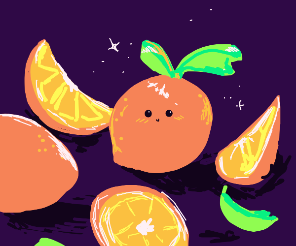 an orange and some orange peels