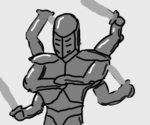 A Crusader with 6arms