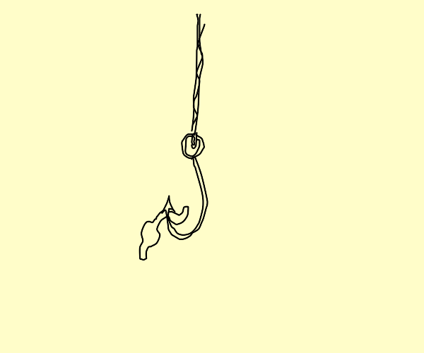 Worm on a hook