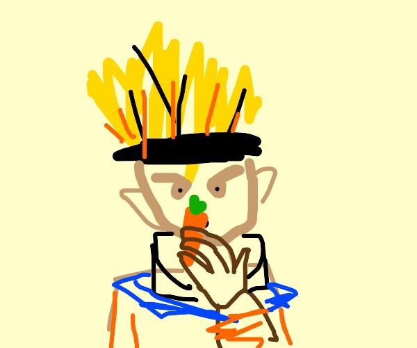 Naruto eats a carrot