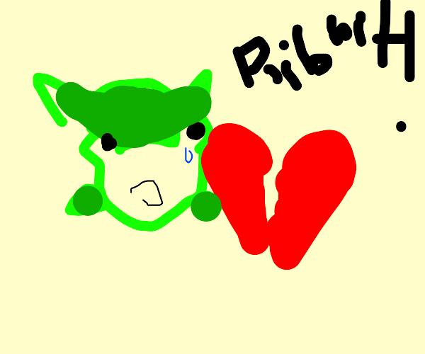 A frog that got his heartbroken