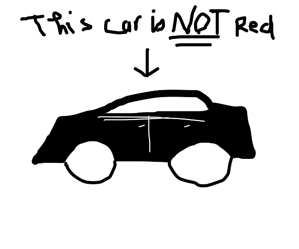 A car that isn't red