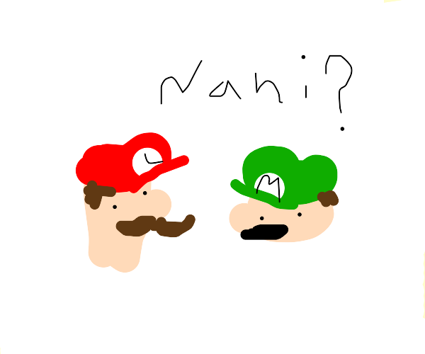 Red Luigi and green Mario play smash bros