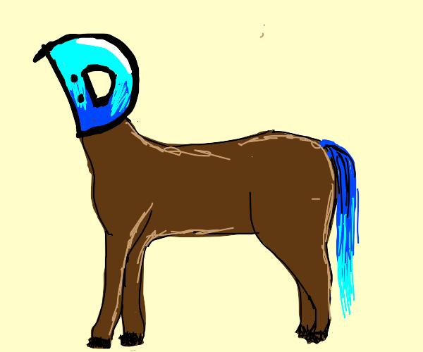 horse with drawception head