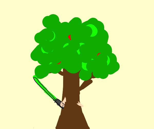 Han Solo is turning into a tree