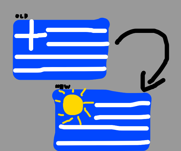 Greek flag added a sun