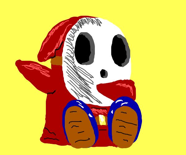 Red shy-guy dabbing