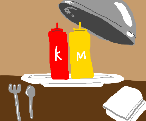 serving condiments as the main course