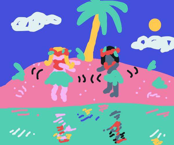 Doing the hula on an inhabitable island