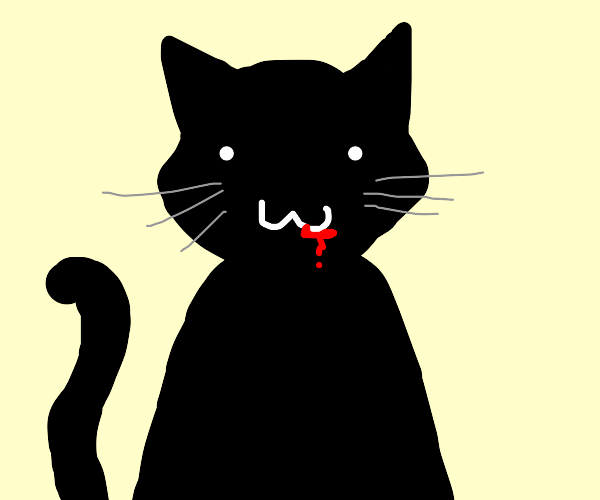 Cat with bleeding mouth