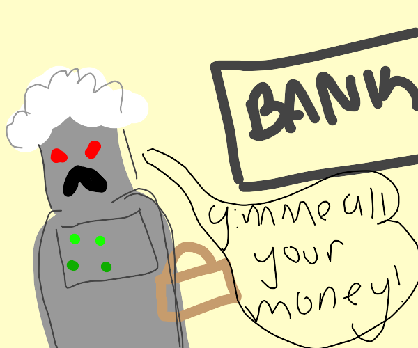 cyborg lady robs a bank
