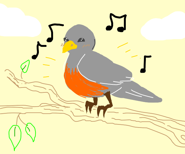 Bird singing a tune