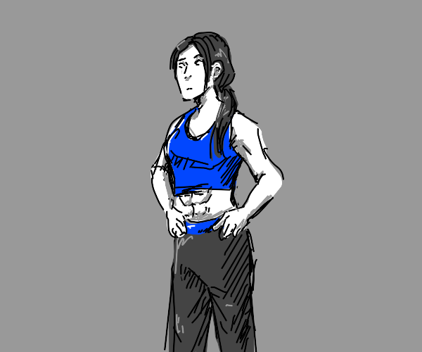Wii fit trainer has a six pack