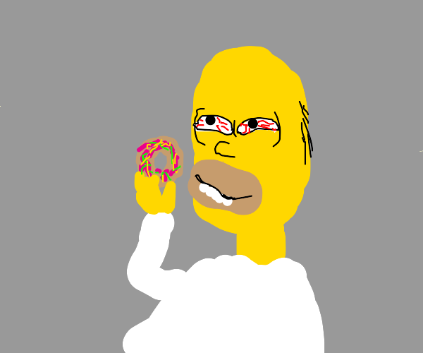 homer is high on donuts