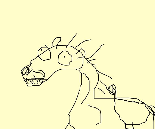 Brain damaged horse