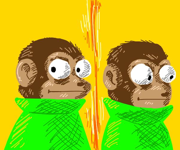 monkey minding his business meme