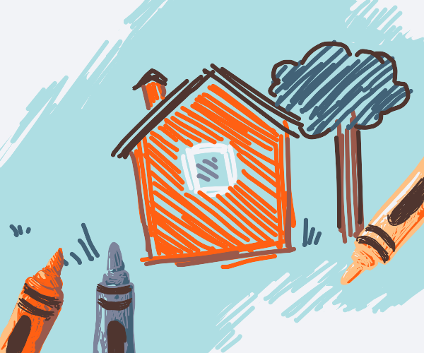 A simple house as those from kids drawings