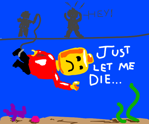legoman drowning (is this the new meme?)