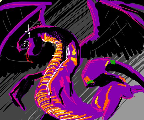 purple lizard-dragon