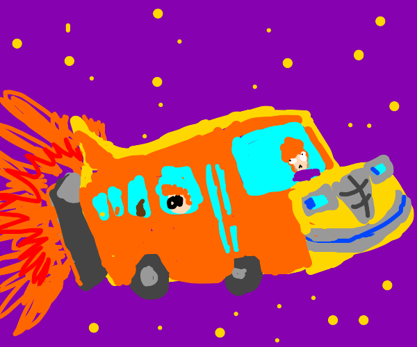 The Magic School Bus takes off