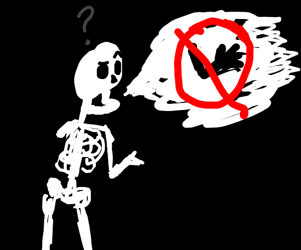 A skeleton can't find his arm