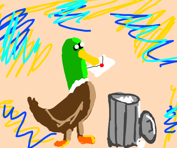 Duck throws the mail away