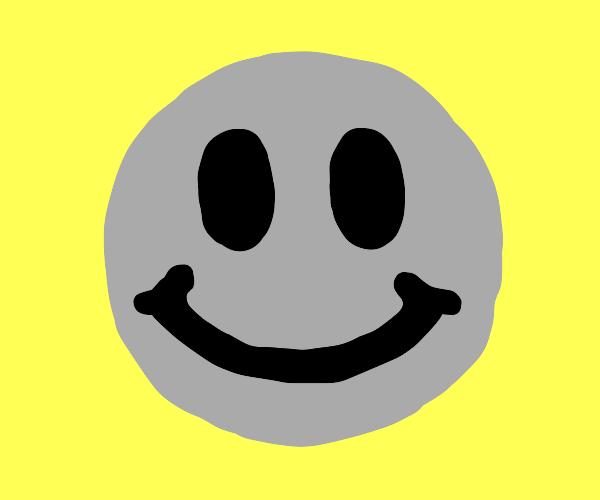 Grey smiley face