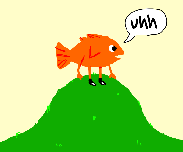 uhhh fish and a hill