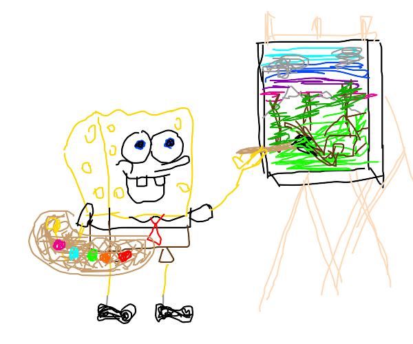 Spongebob is Bob Ross