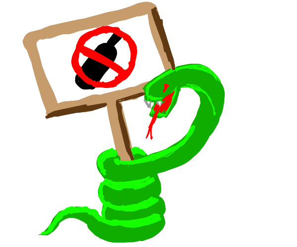 snake is anti drink