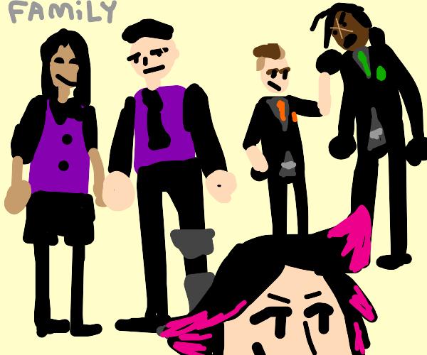 average family gathering