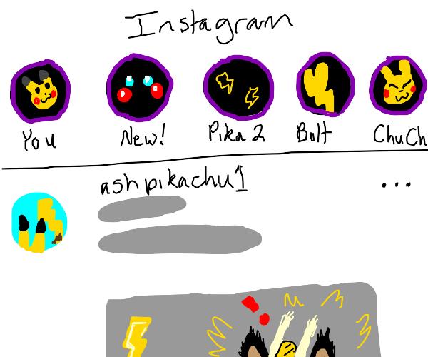 pikachu's IG story