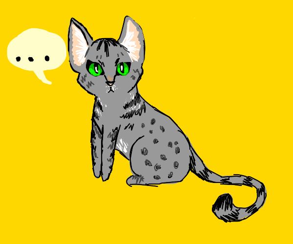 A silent Egyptian cat.