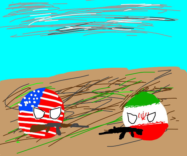 WWIII but in countries flags style