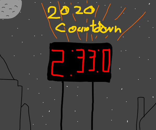 YAY! 2 hours and 33 minutes till new years!