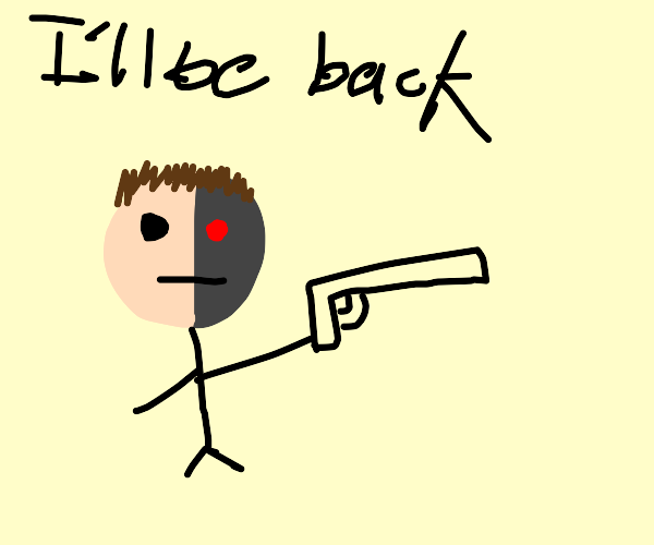 Terminator but as a stickman