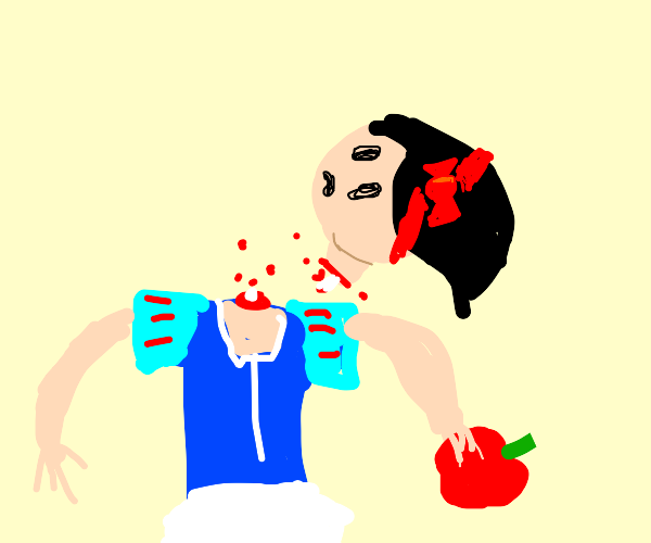 Snow White's head came off